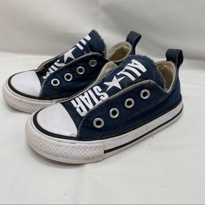 Converse Allstar Velcro flap Slides Sneakers Navy